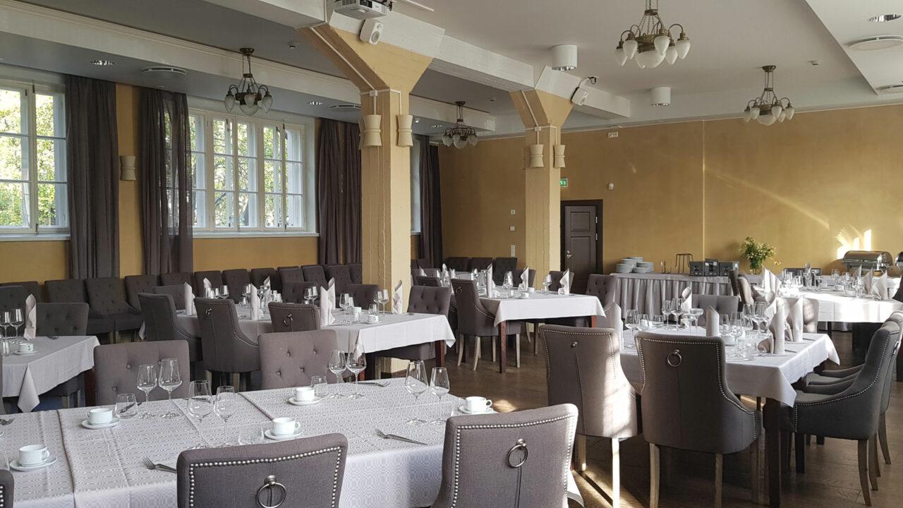 Harmooni Restaurant's dining room.