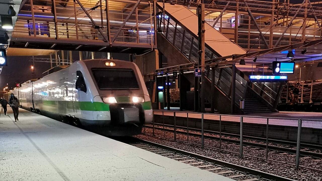 Train at Jyväkylä Travel Centre.