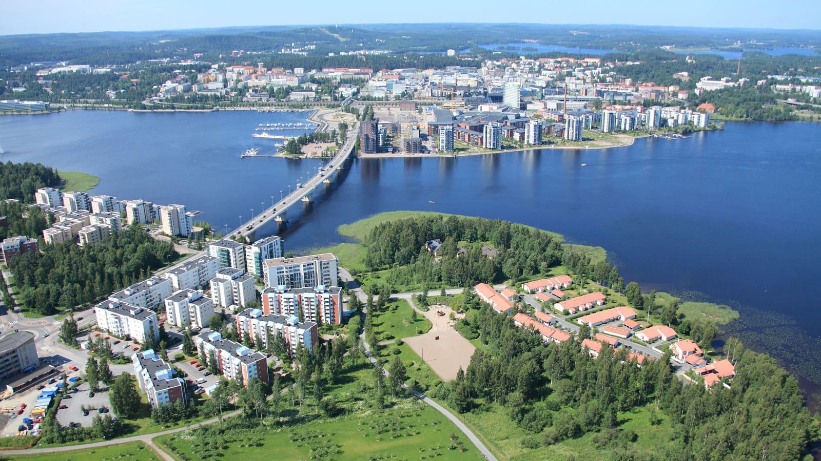 Aerial picture of Jyväskylä.