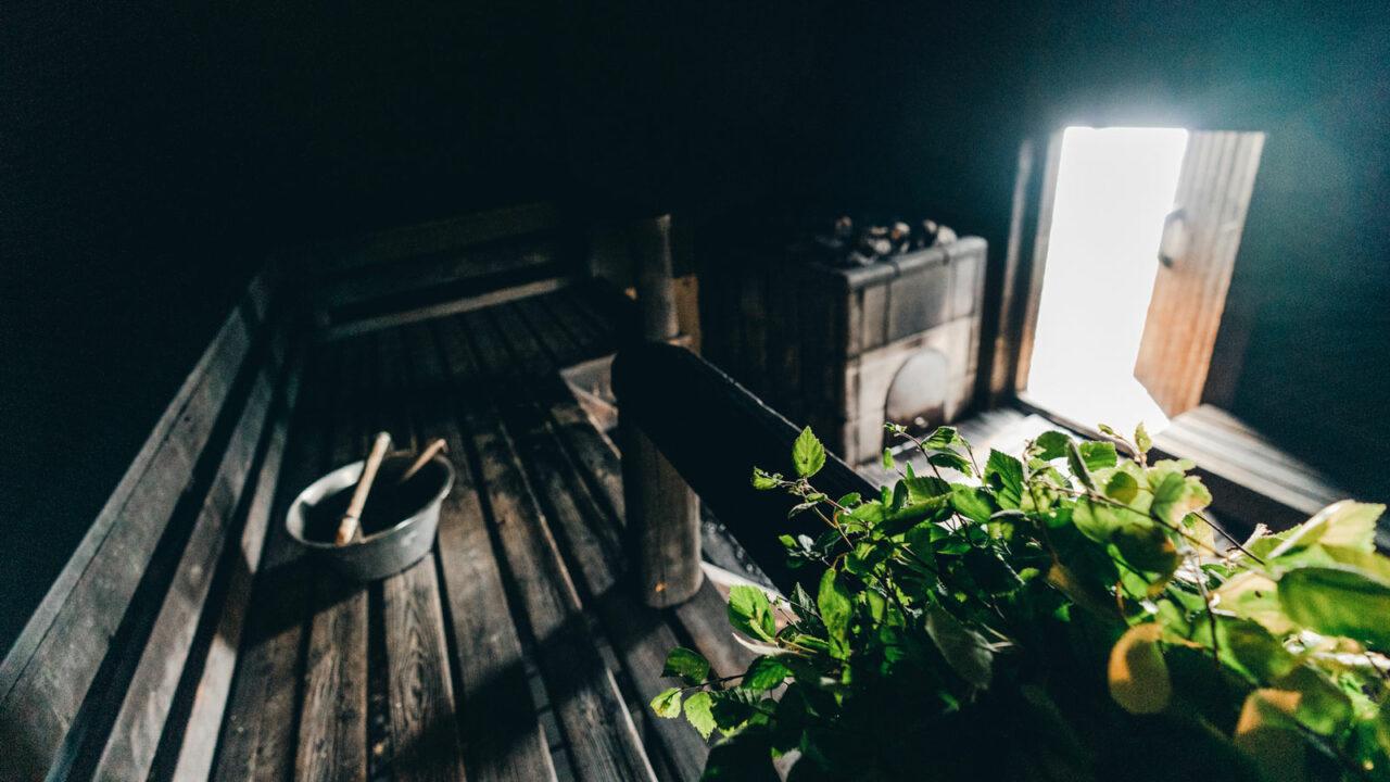 Peurunka smoke sauna benches.
