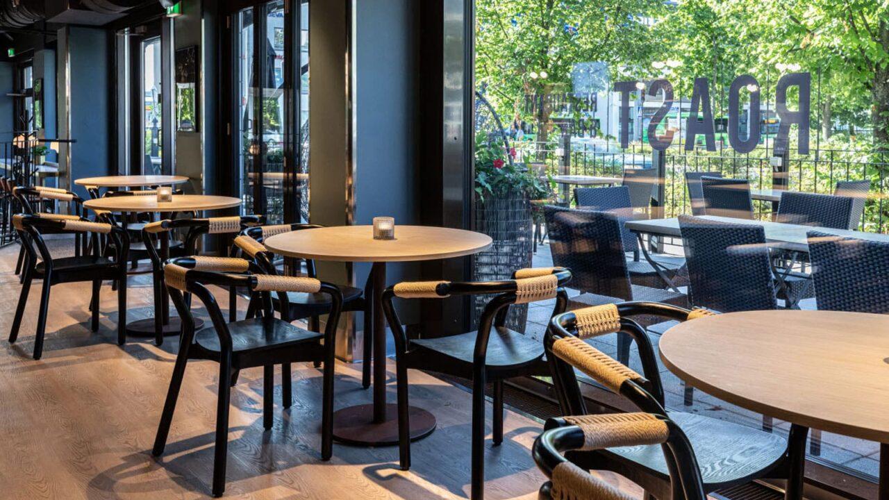 Restaurant Roast's tables.