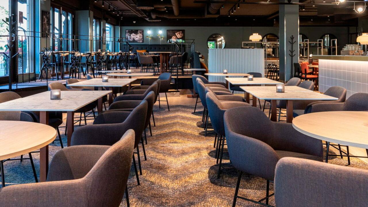 Restaurant Roast's dining area.