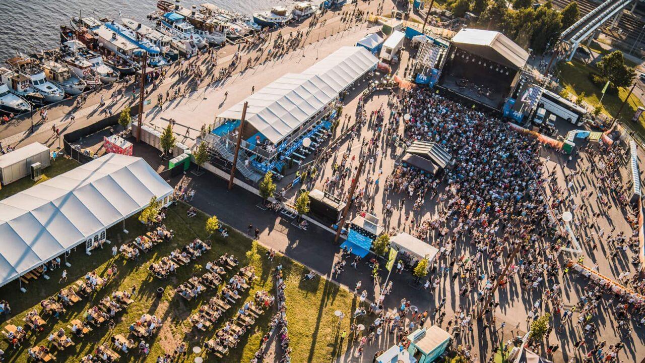 Aerial picture of Suomipop festivals.