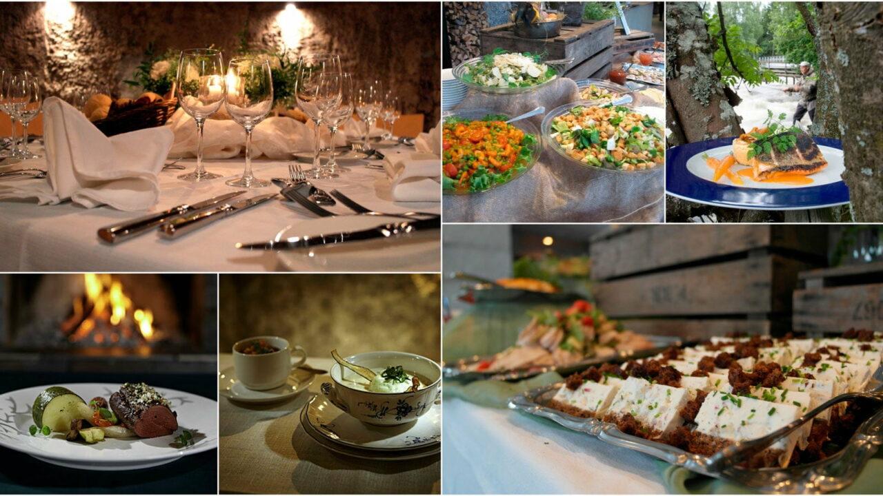 Photo collage of Varjola's food servings.