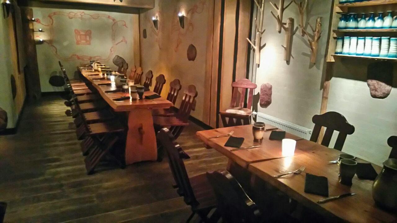 Restaurant Harald's dining room.