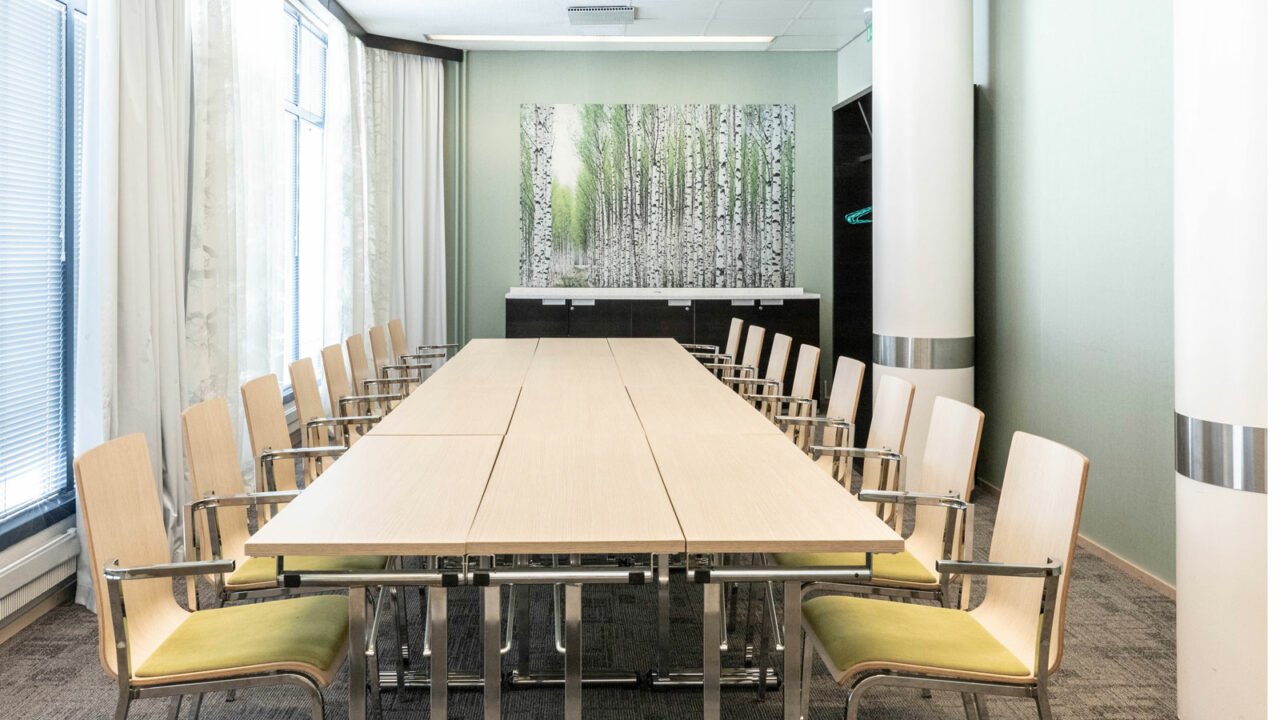 Meeting room's table and chairs.