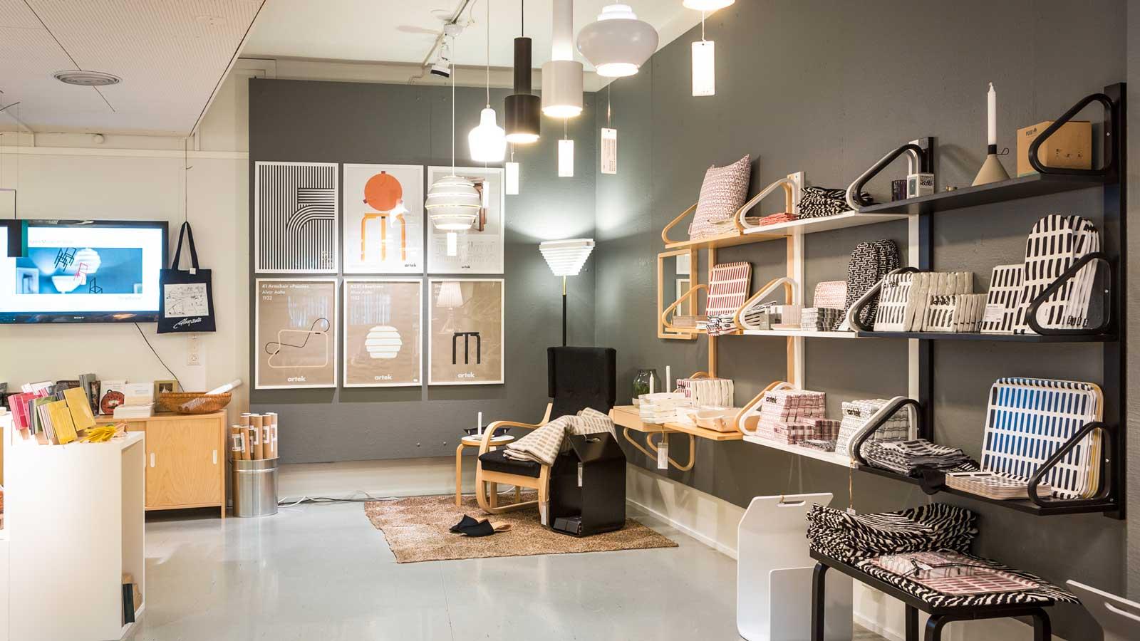 Alvar Aalto -museon myymälä ja tuotteet