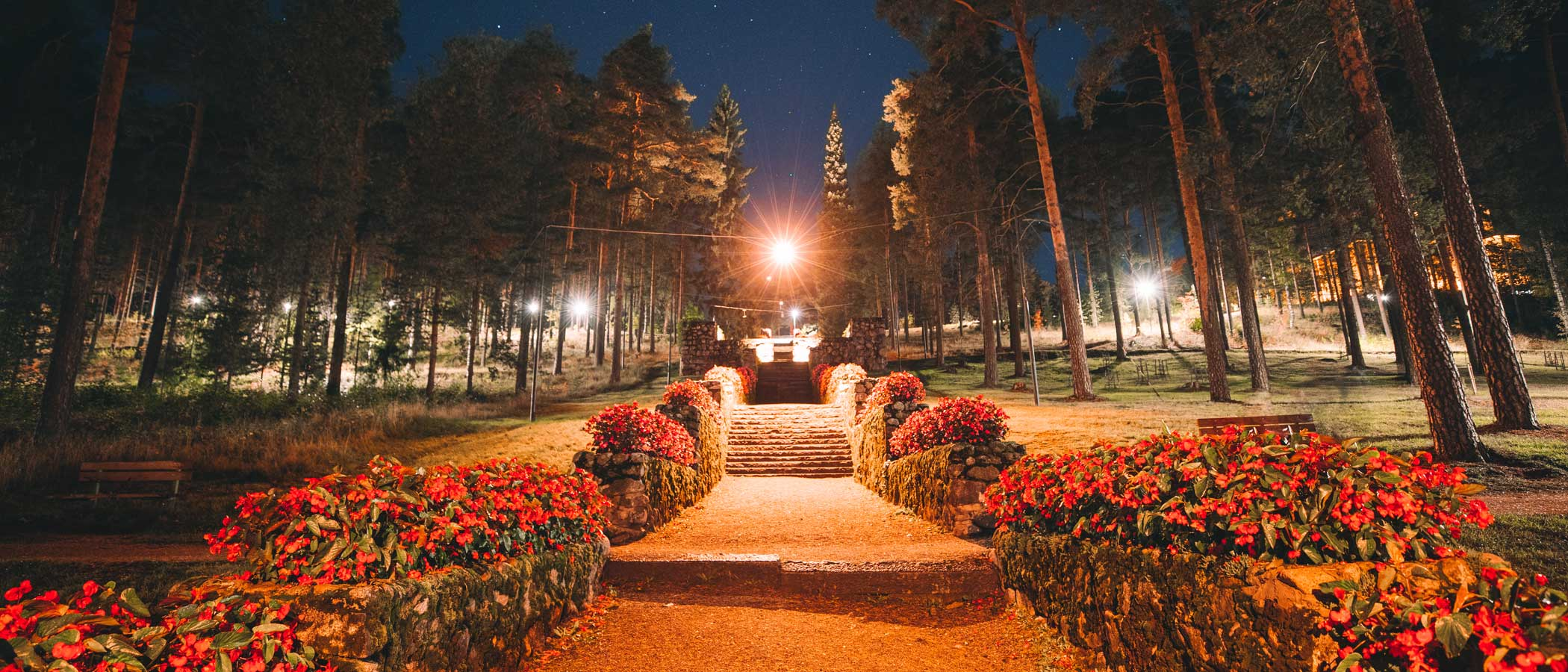 The Harju Stairs in evening lighting