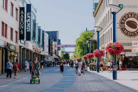 Kävelykatu Jyväskylän keskustassa