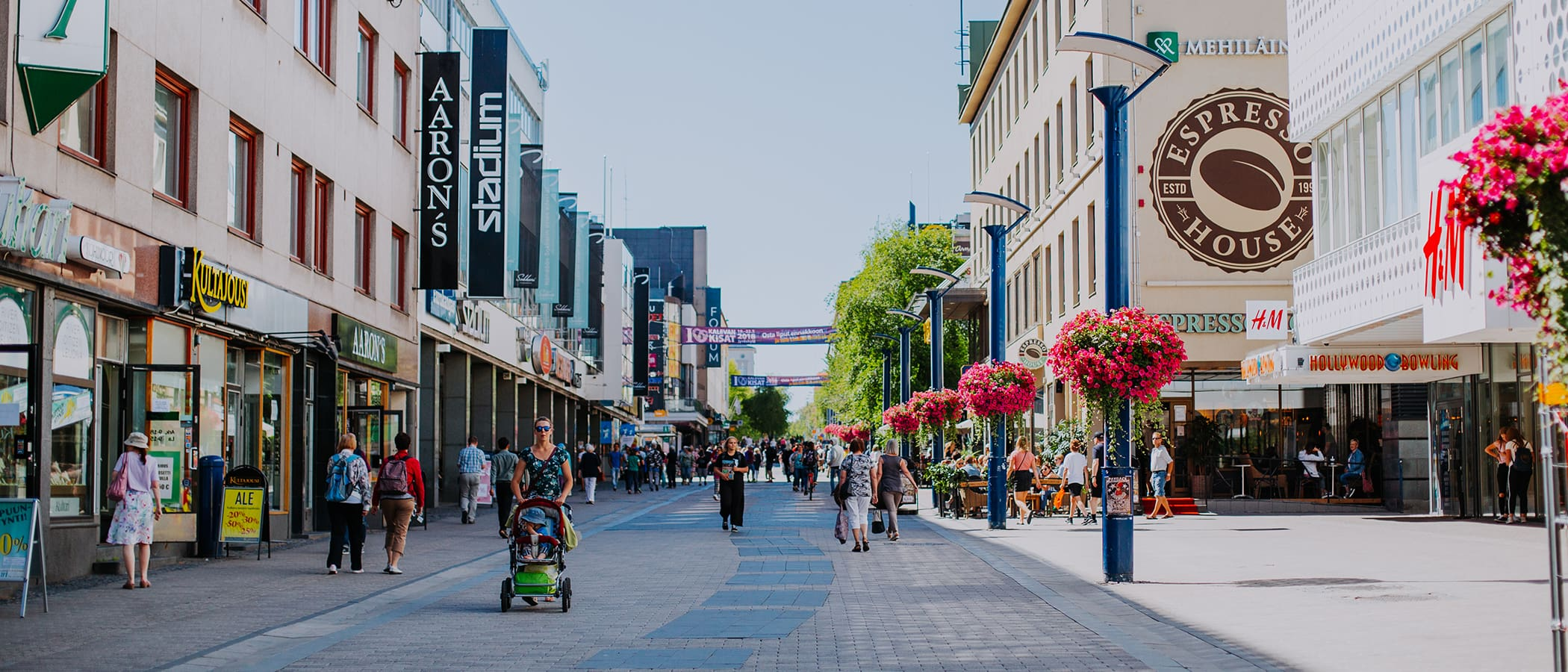 Pedestrian street in the Jyväskylä City centre