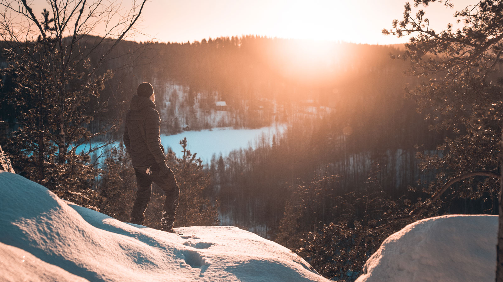 A person looking at a beautiful view in Kanavuori