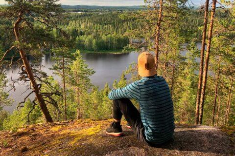 A person sitting on the top of the Tärttämäki hill