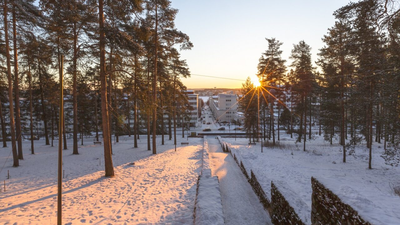 Harju ridre and steps in the winter
