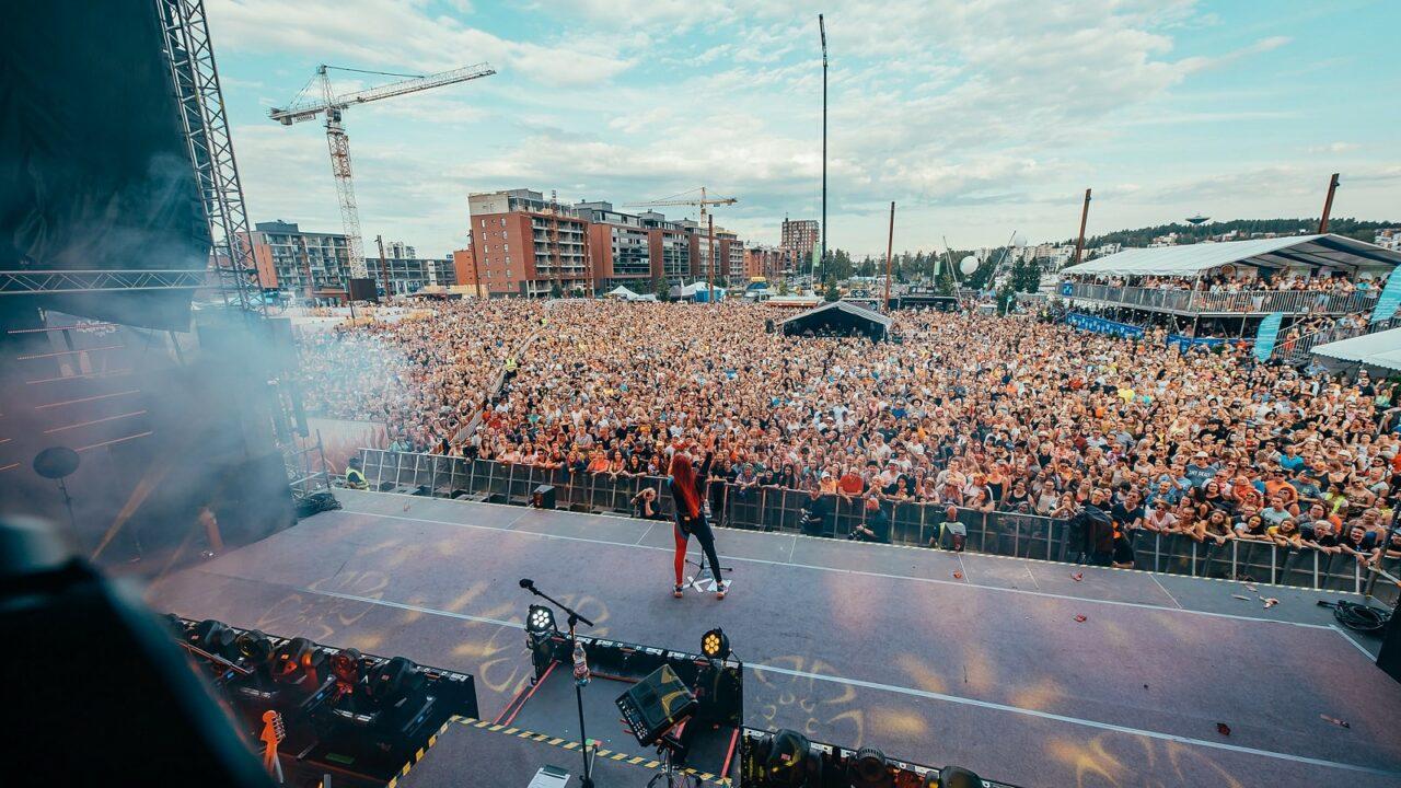 Concert at SuomiPop festival in Jyväskylä