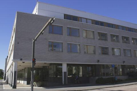 Alvar Aallon suunnittelema Poliisitalo (nykyinen Tietotalo) Kilpisenkadulla, Jyväskylässä