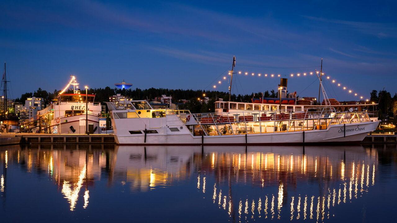 Boote im Hafen von Lutakko in Jyväskylä
