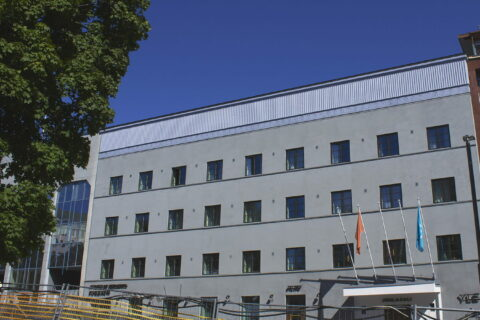 The Defence Corps building located in Jyväskylä centre in Lakeland Finland.