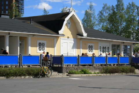 Harbour café in Lutakko Harbour, Jyväskylä.