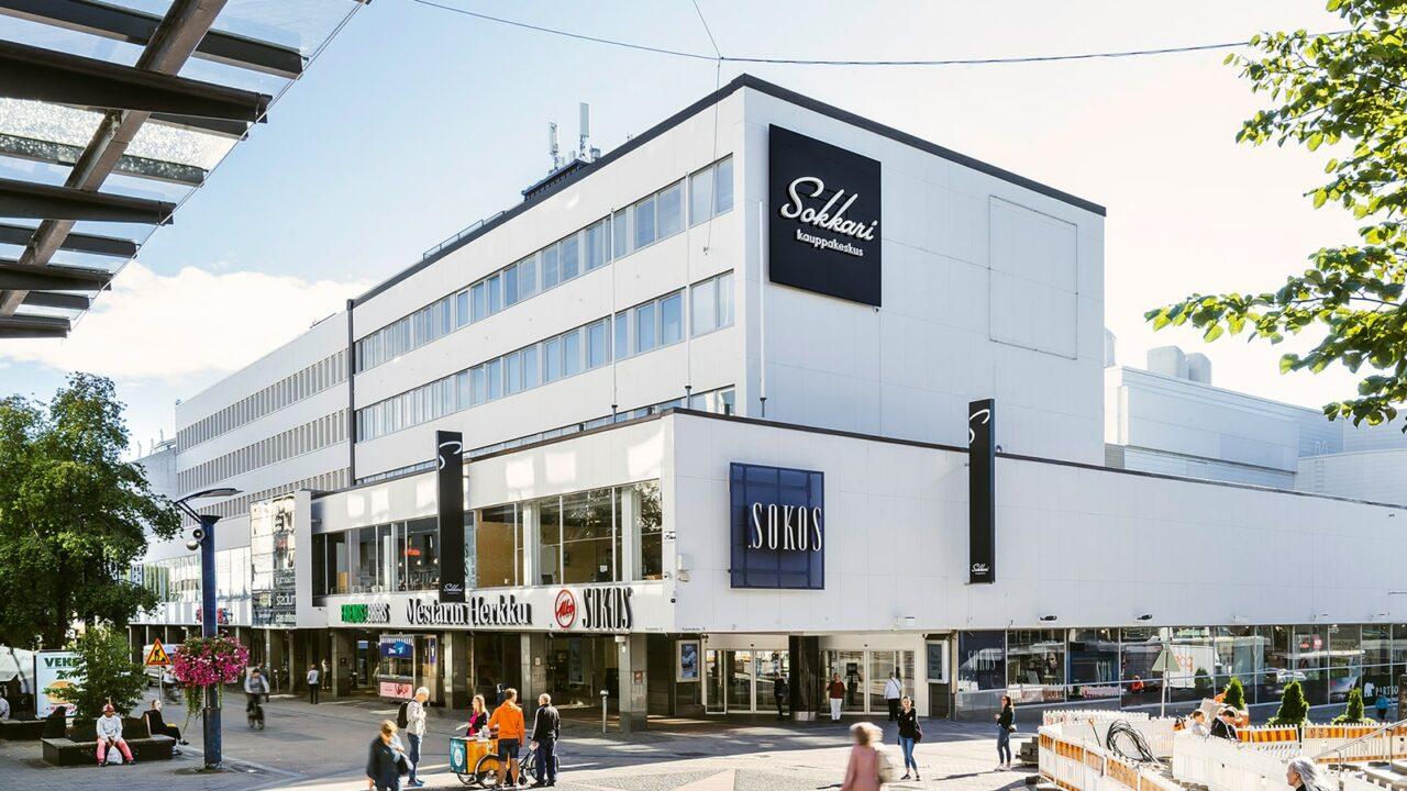 Kauppakeskus Sokkari Jyväskylän keskustassa.