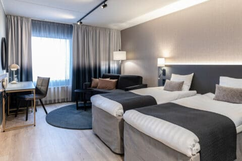 Double room at Scandic hotel