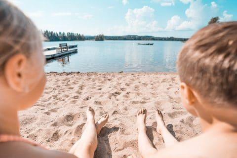 Kesäpäivä Peurungan uimarannalla
